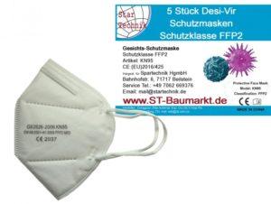 Gesichtsschutzmasken FFP2